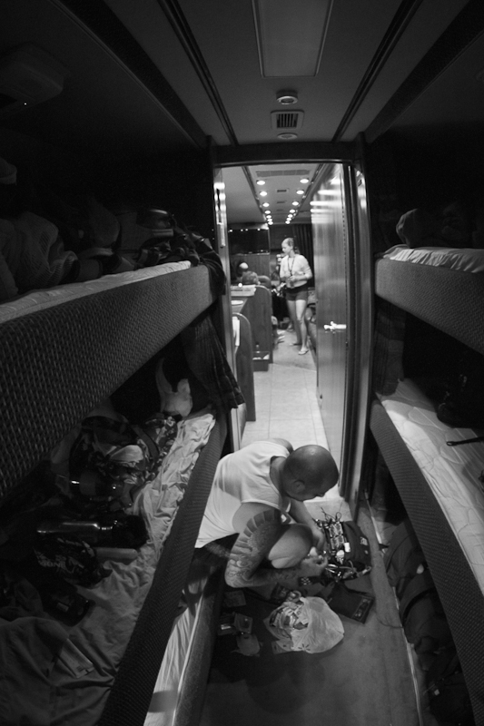 Tour Bus Life  Photo by: Mike Reiersen